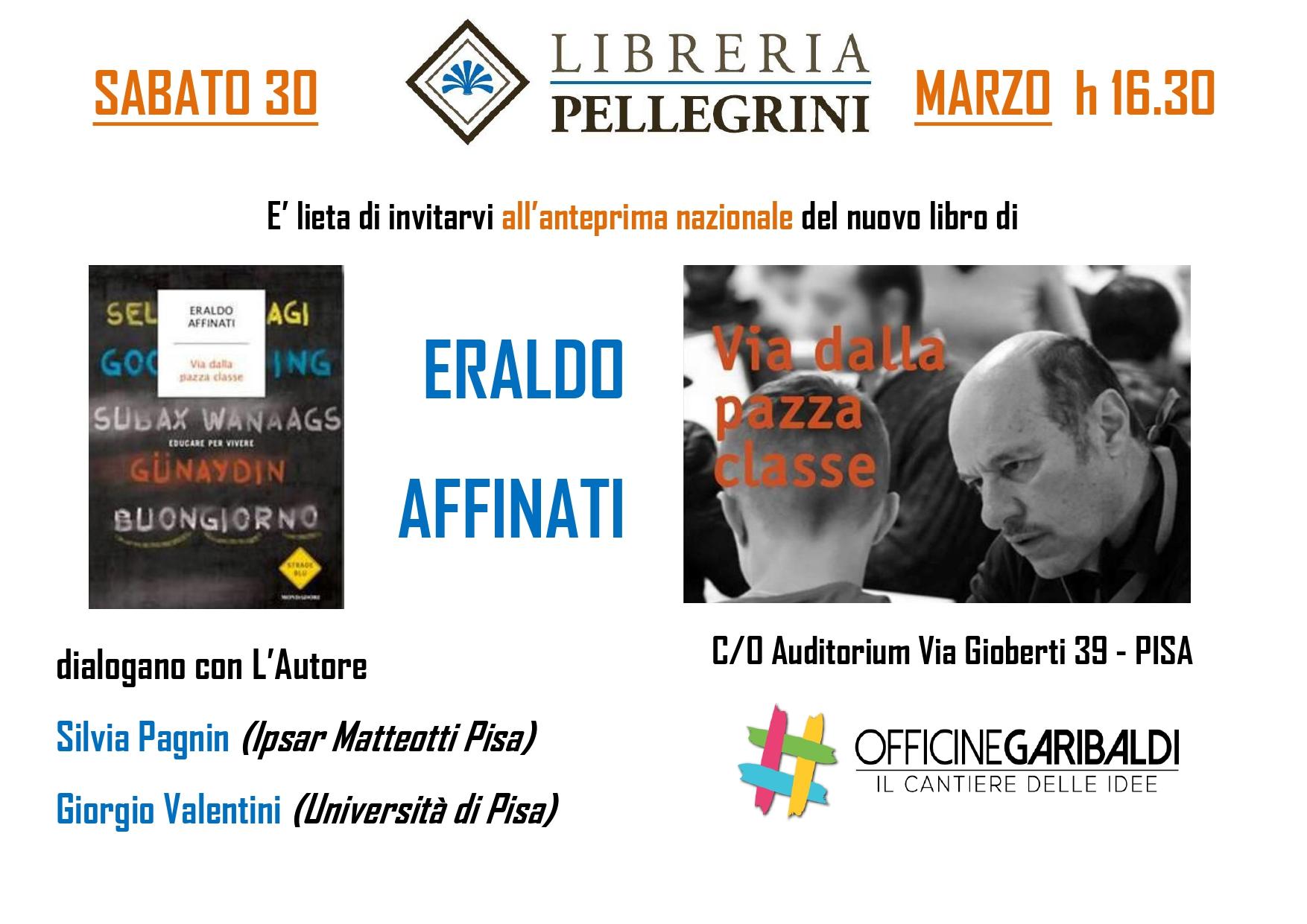 Eraldo Affinati @ Officine Garibaldi – con Libreria Pellegrini