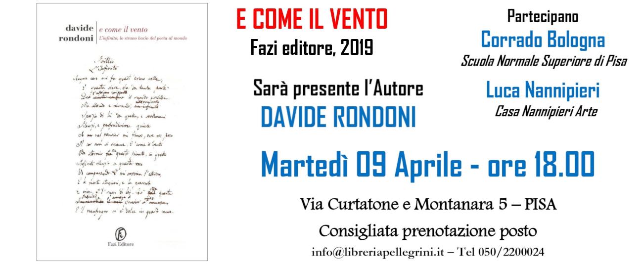 9 Aprile – Davide Rondoni @ Libreria Pellegrini