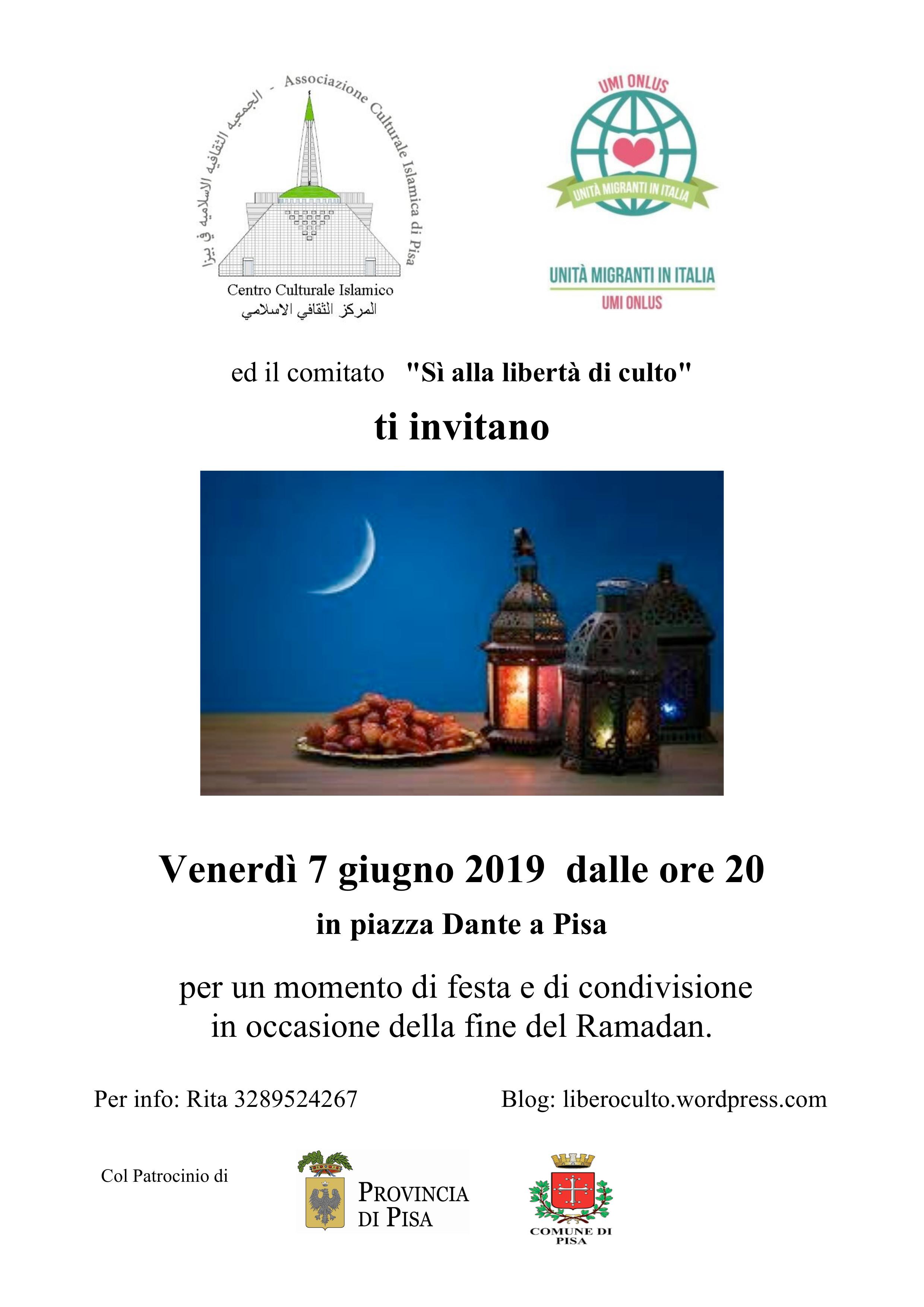 7 Giugno – Festa per la fine del Ramadan @ Piazza Dante