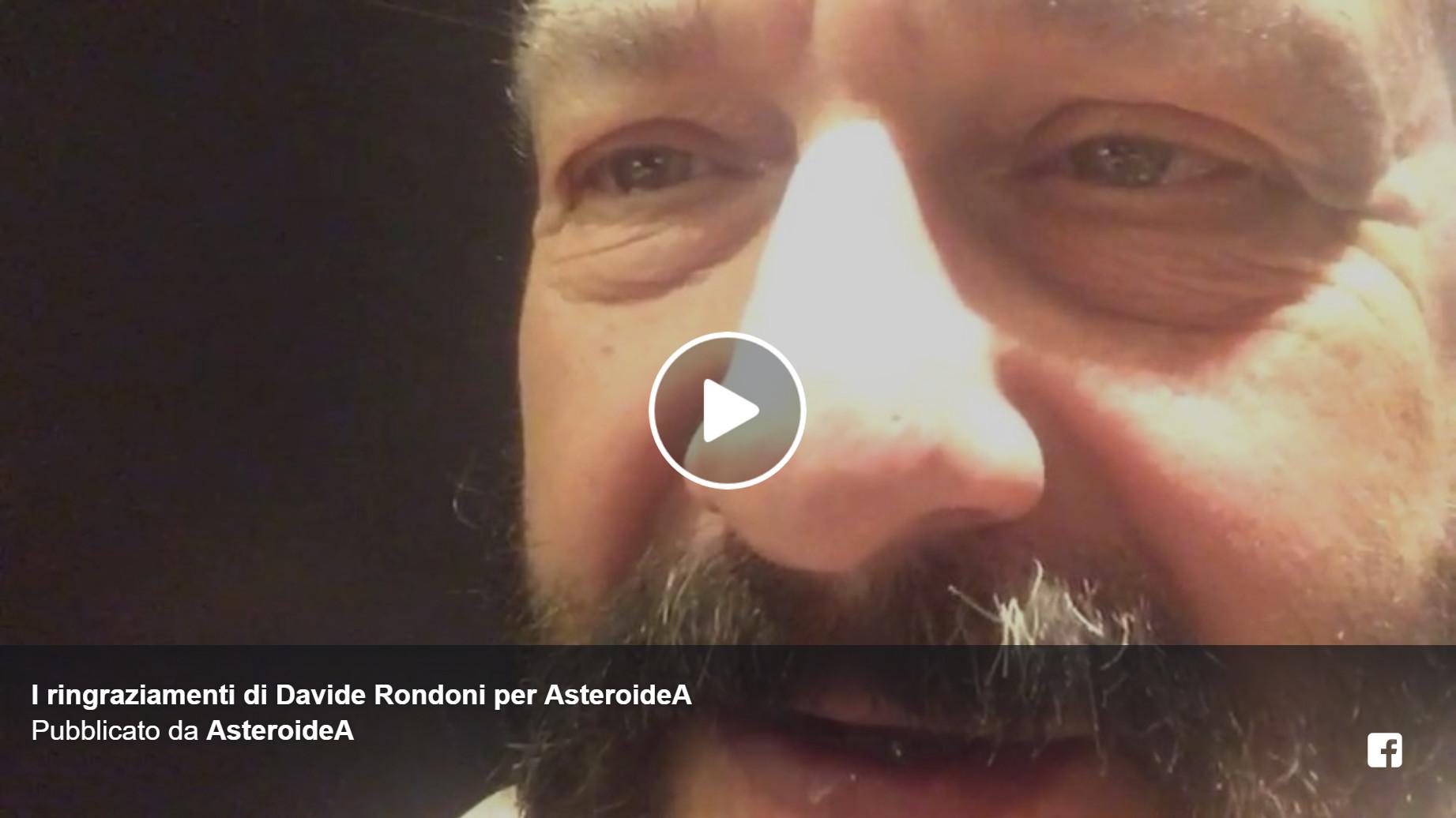 [VIDEO] I ringraziamenti di Davide Rondoni per AsteroideA